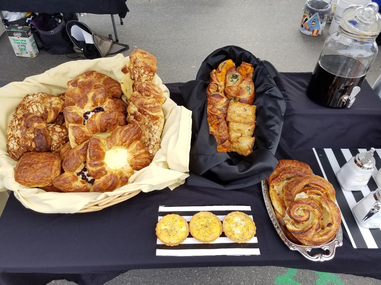Delicious Breakfast Pastries on a Table by Petite Astorias, Escondido, California